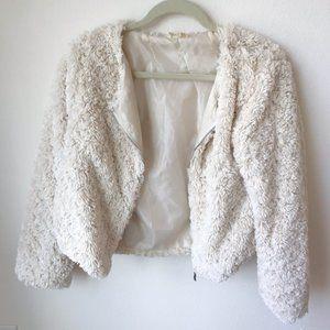 🌻Everly Blush Pink Soft Faux Fur Jacket